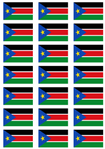 South Sudan Flag Stickers - 21 per sheet